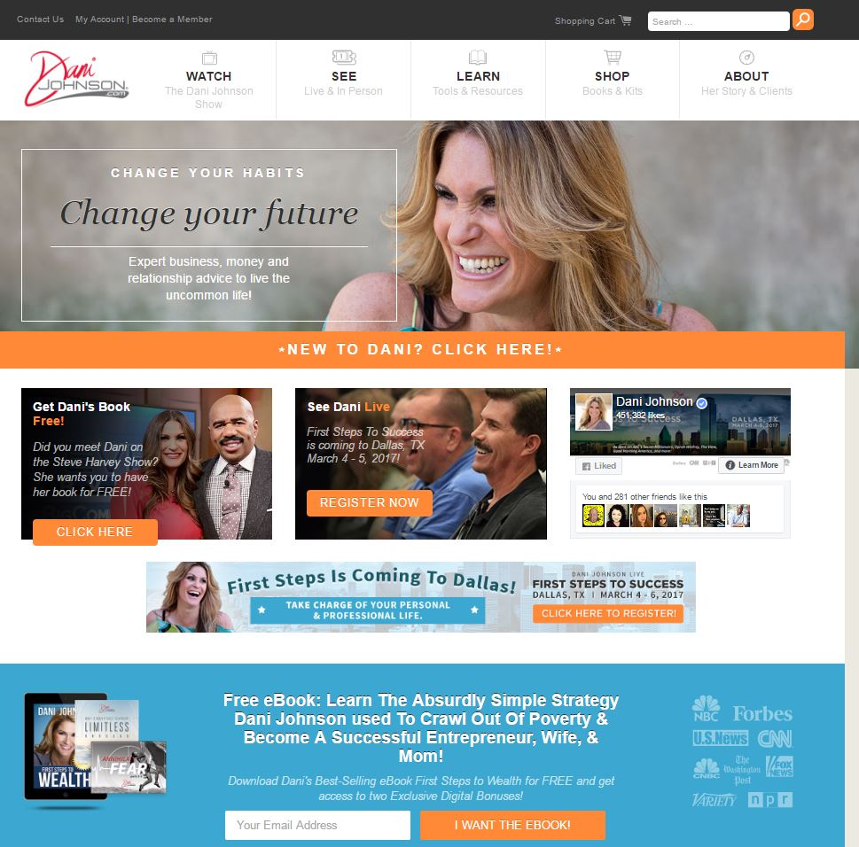 Dani Johnson Web site